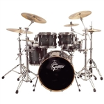 Gretsch Drums RN-E824-PT6TE Renown Maple Series 4-Piece Euro Shell Pack with 18x22' Bass; 8x10' Tom; 9x10'Tom and 14x14' Floor Tom Transparent Ebony Lacquer - New